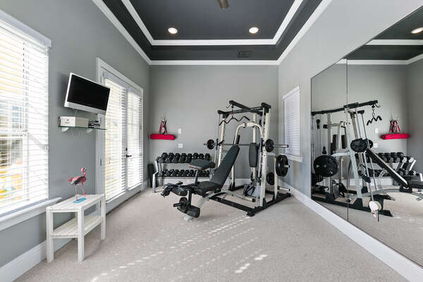 Have access to your own private gym