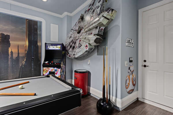 Check out all the galactic details on all the walls
