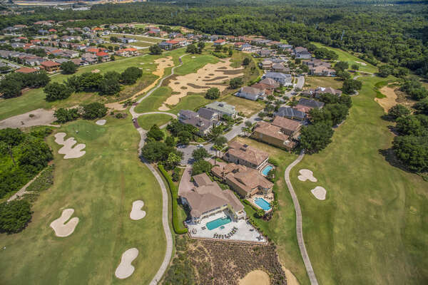 Aerial view of Reunion Resort