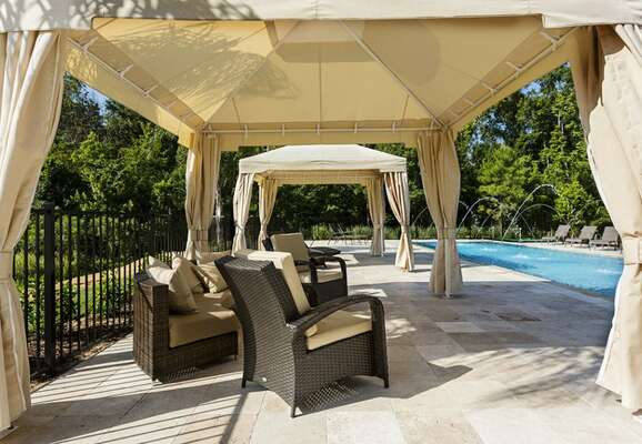 Miami style cabanas provide the perfect place to relax