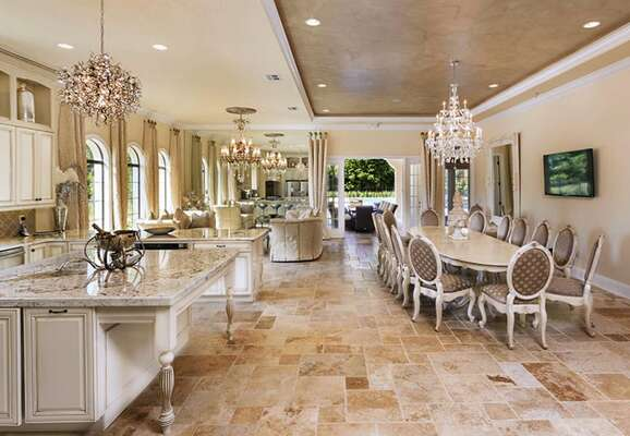 This villa offers an opulent living space