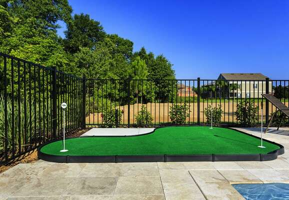 Practice on your private putting green