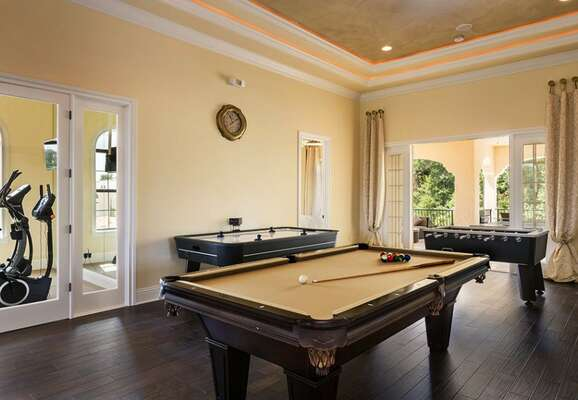 The entertainment space is sure to please with a variety of activities