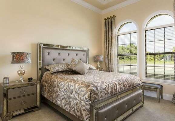 Modern ground floor bedroom with king bed