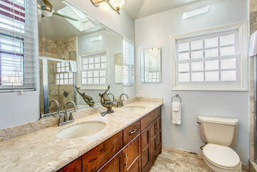 Double sink in the Master bathroom