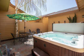 Hot tub and new patio furniture