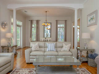 High ceilings and open floor plan