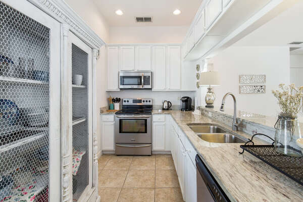 The fully equipped kitchen is ideal for cooking delicious meals