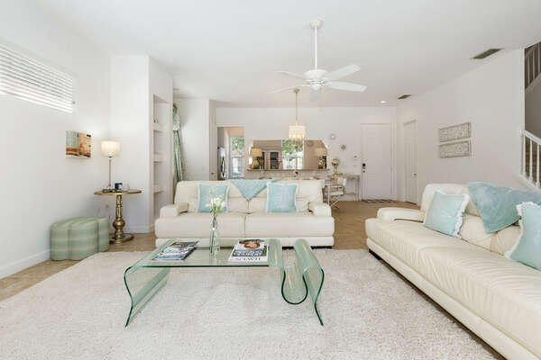 Plush couches and modern design