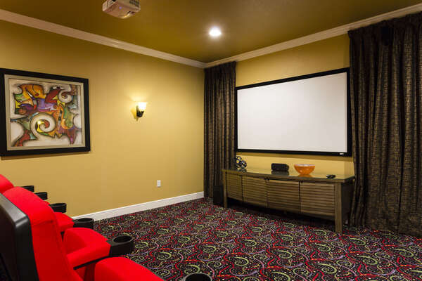 Spend your days watching favorite movies in the home theater room