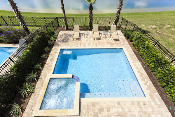 Spend your days soaking up sunshine at your private pool