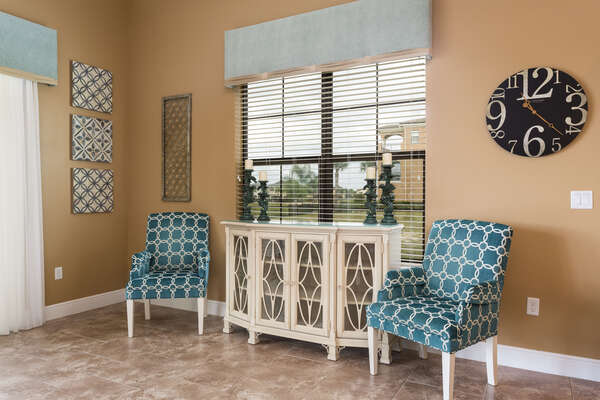 More seating areas throughout the home