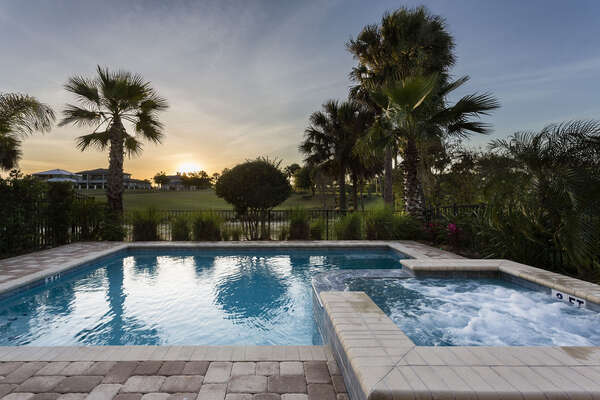 Relax in the pool or spa at any time of the day