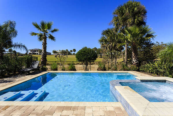 The whole family will love spending time together at your own pool