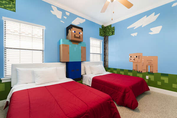 Gamers rejoice with this fun bedroom