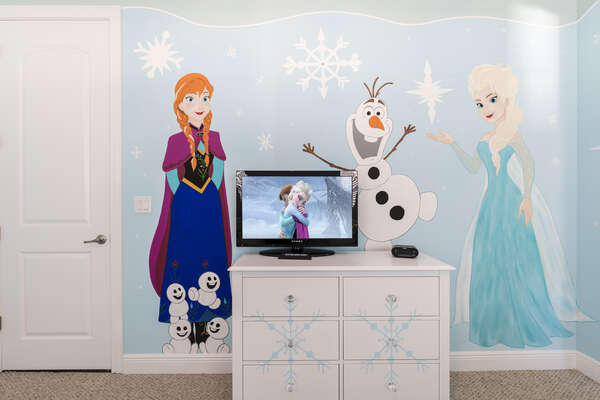 Watch a favorite princess movie on the bedroom TV
