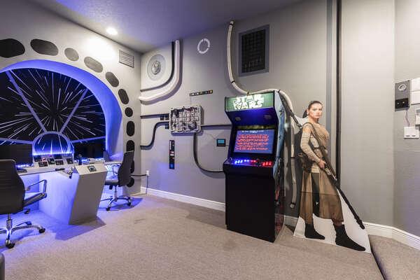 A Star Wars arcade game