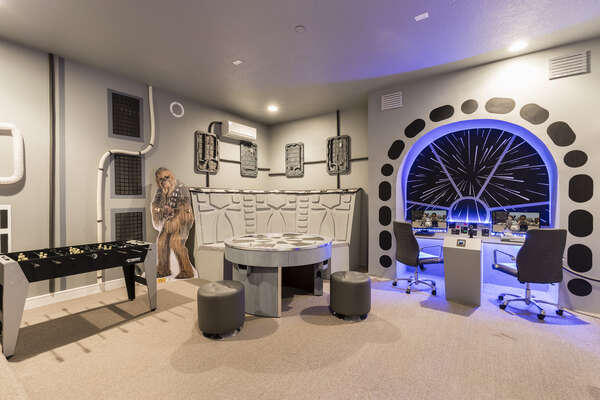Get your game on in this galactic game room