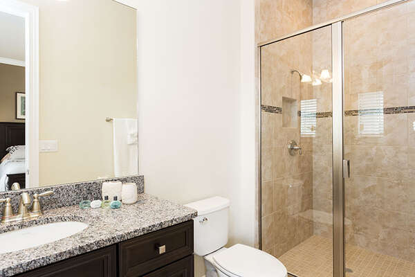 Bathroom with a walk-in shower