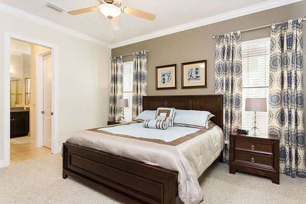 Comfortable King bedroom with ensuite bathroom