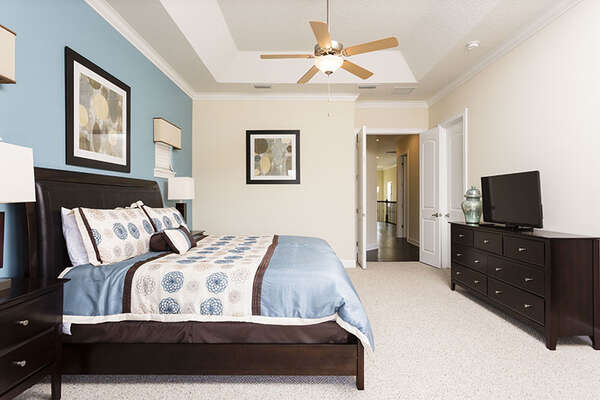 Relax in style in this second floor master suite with a king bed