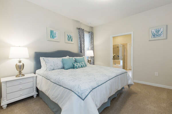 You'll feel right at home in this comfortable downstairs master bedroom