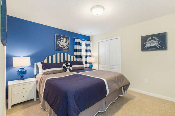 Come home to comfort after a long day with this king bedroom