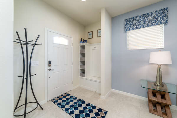 The foyer gives you a cozy welcome into the rest of the home