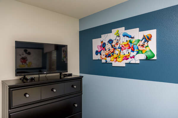 Upstairs Kids Bedroom with TV