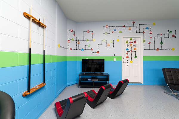Converted Garage Game Room