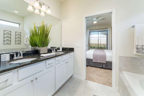 Master Bathroom with Dual Sinks 1st Floor