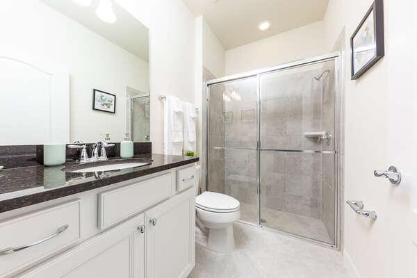 Elegant bathroom with a walk-in shower