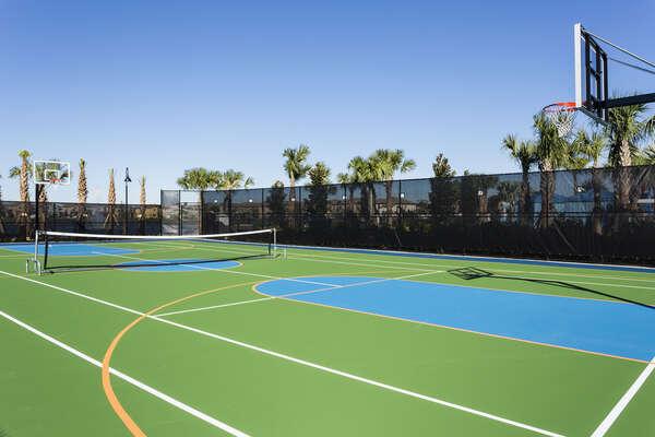 Windsor at Westside resort basketball and tennis court