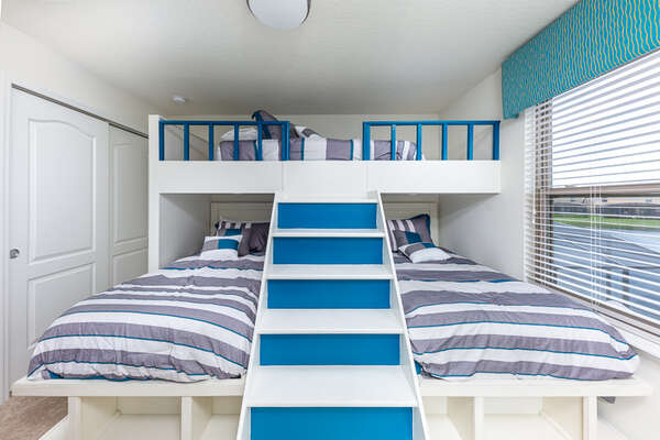 A fun and cozy space for the kids to sleep or hang out