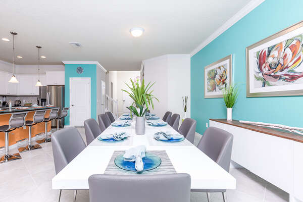 Enjoy your meals at this beautiful dining area with seating for 10