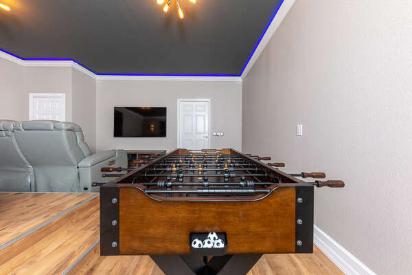 Enjoy a movie and exciting foosball match at the same time