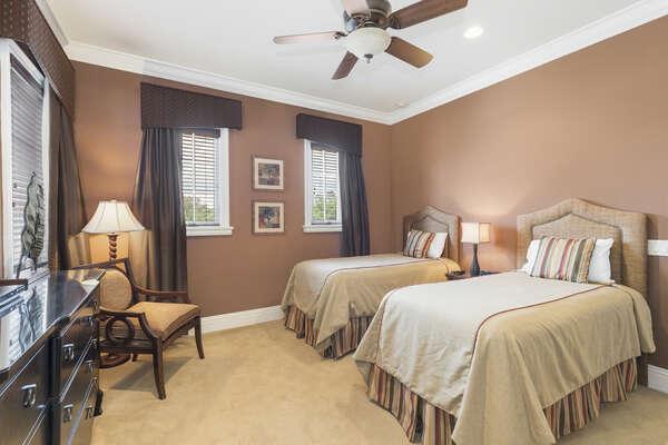 This bedroom blends comfort and elegance together