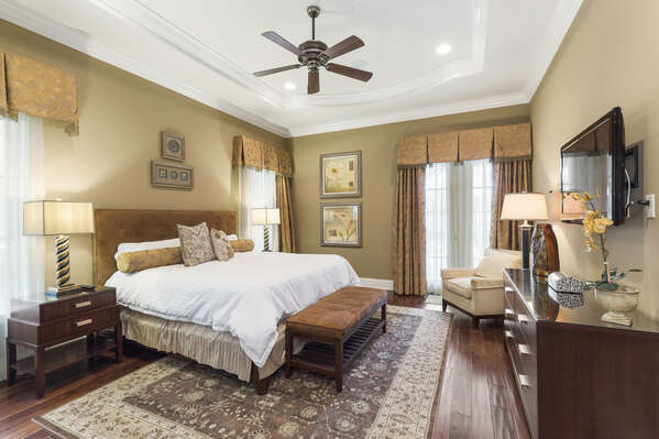 You'll feel at home in this King bedroom