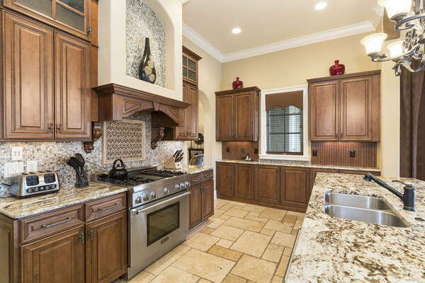 Plenty of space for multiple cooks in the kitchen!