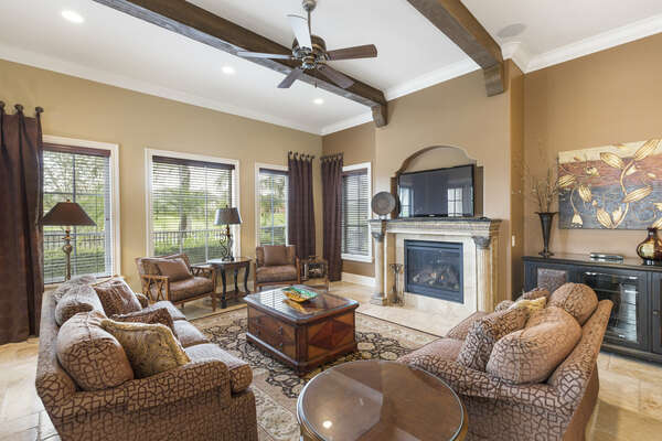 Come home to comfortable living spaces after long days in the Orlando theme parks