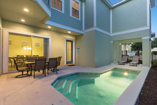 Swim any time you want at your own private pool