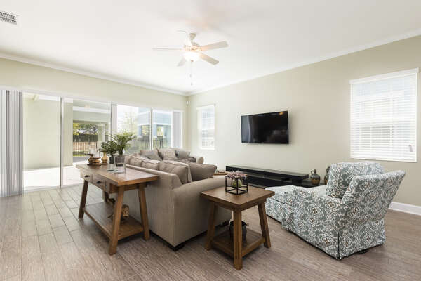 The open living space is great for gathering together as a family