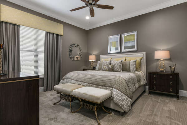 Master Suite #9 with gorgeous design accents and a King bed