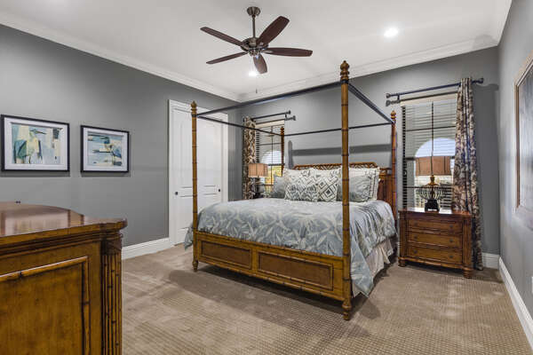 Master Suite #8 with a beautiful four poster King bed