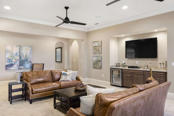 Complete with a TV and wet bar, this is a great place to relax