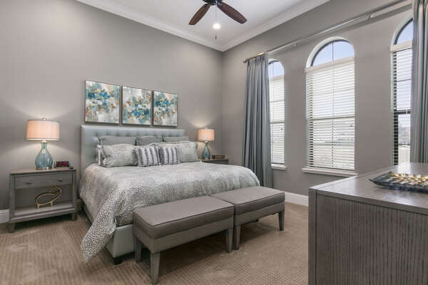 Master Suite #2 is located on the first floor with a King bed