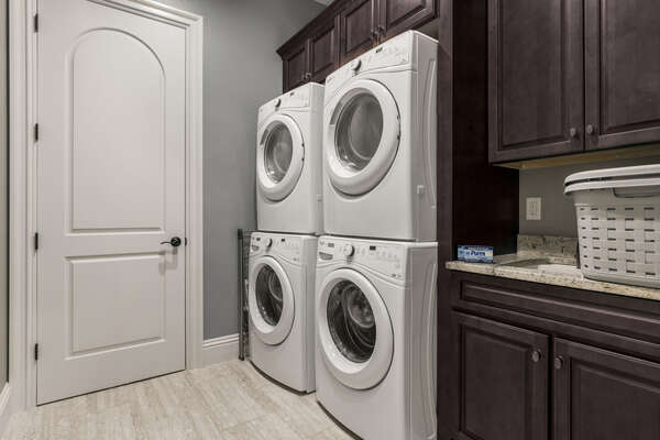 Fully equipped with two washers and two dryers