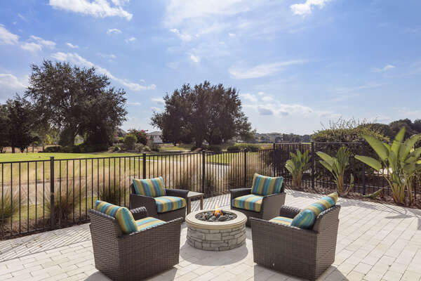 Enjoy your fire pit at any time of day