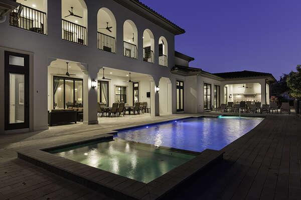Spend beautiful twilight evenings poolside