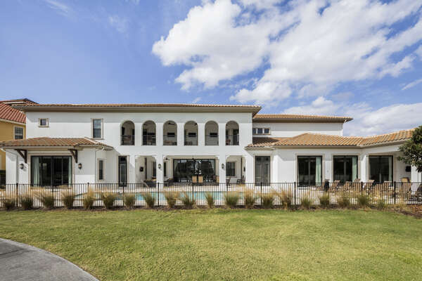 This 14,500 sq. ft. luxury home is one of the most desirable destinations within Reunion Resort